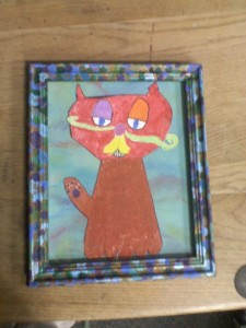 Art work by The Branch School 2nd grade class. Kimba looks very cool.