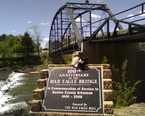 War Eagle Mill & Bridge are fantastic tourist sights.