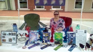 My booth at the July First Friday in Bentonville on the square.