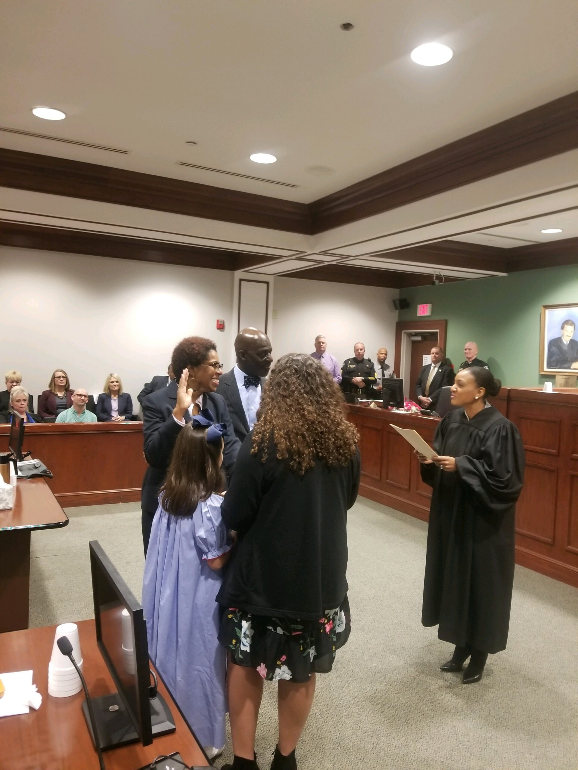 Swearing in Resident Superior Court Judge and Cousin Ola Lewis-Jan. 18, 2019