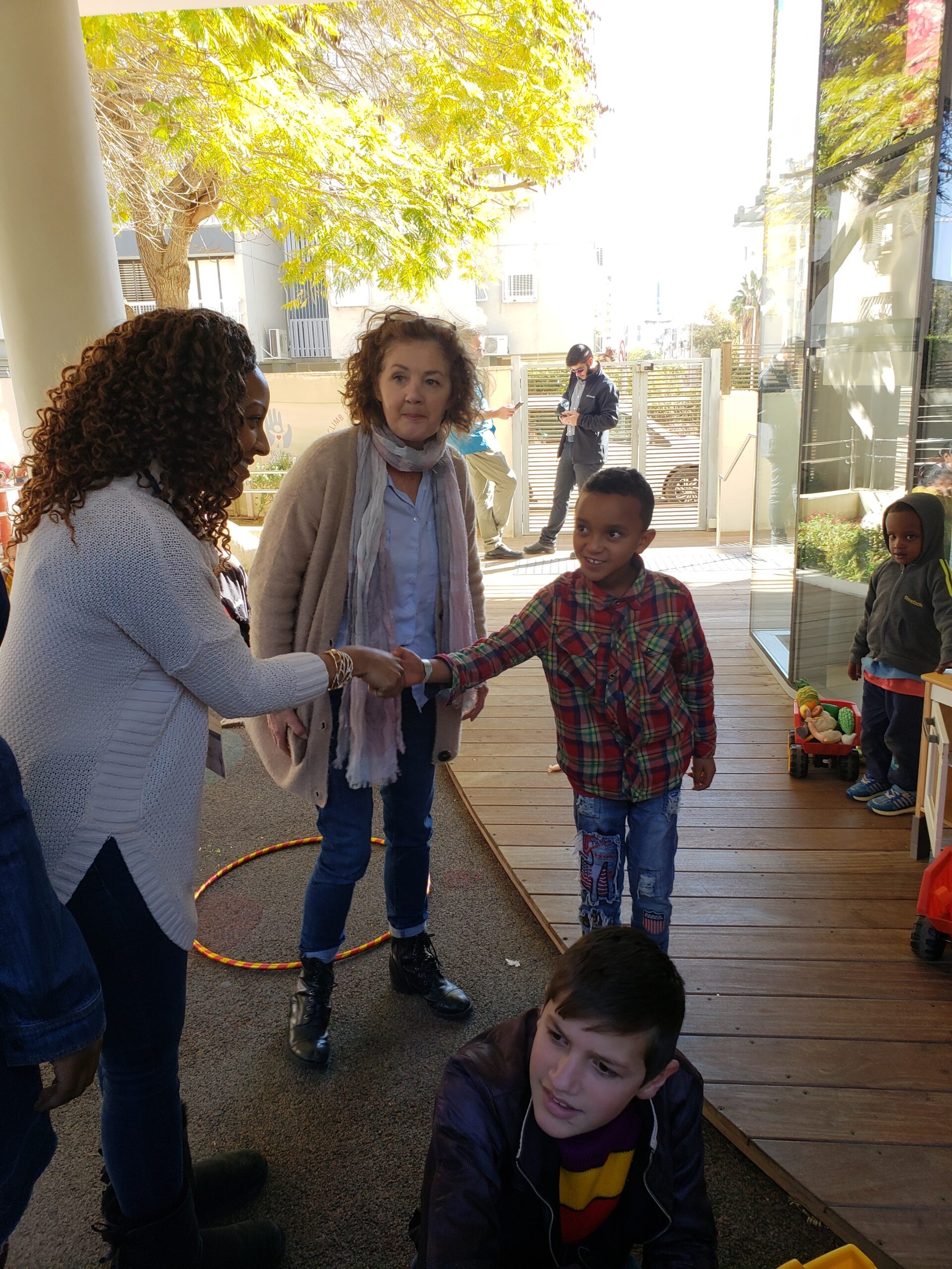 Meeting a Young Child at Save A Child's Heart Home in Heron, Israel