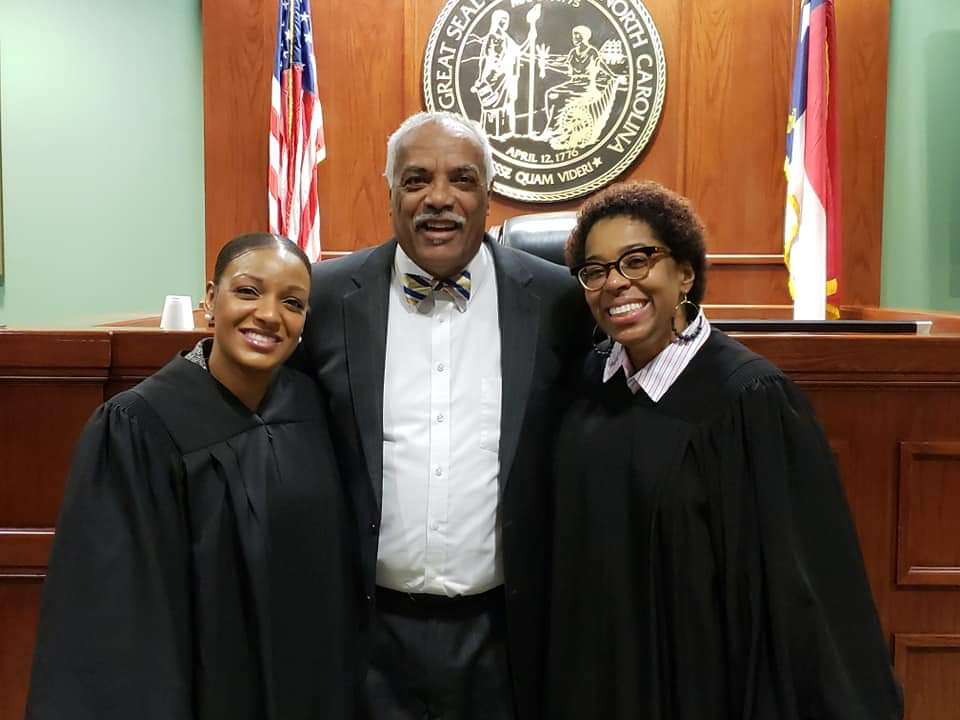 Judge Ashleigh with Father and Attorney Jason Parker and Cousin and Resident Superior Court Judge Ola Lewis