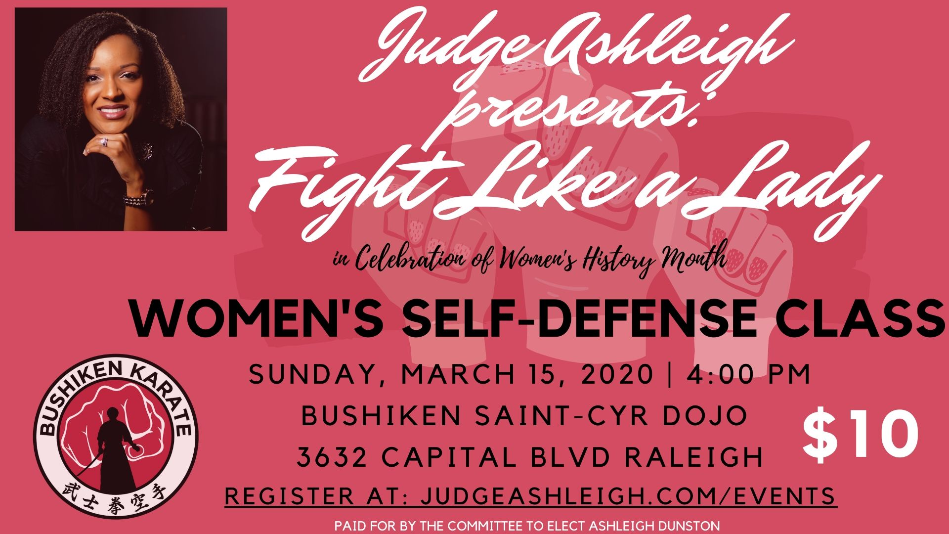 Fight Like A Girl Flyer