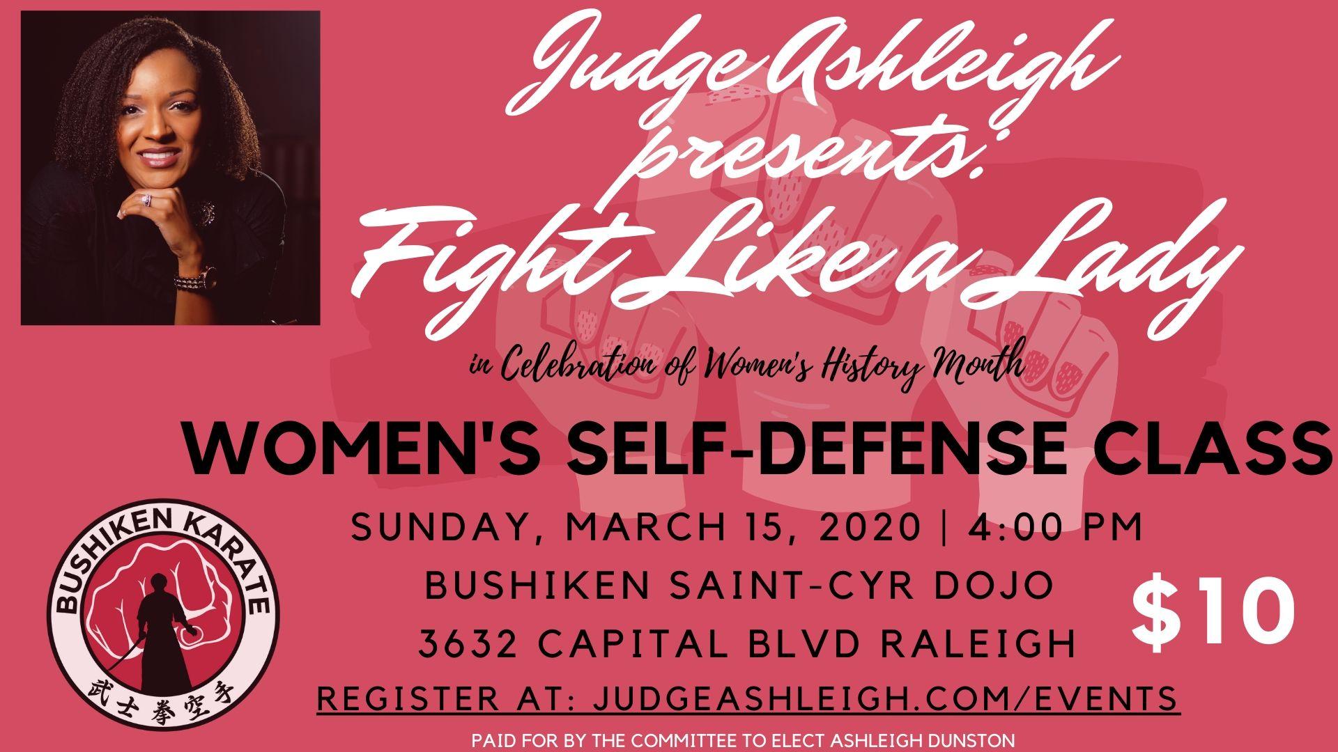 Fight Like A Girl Flyer