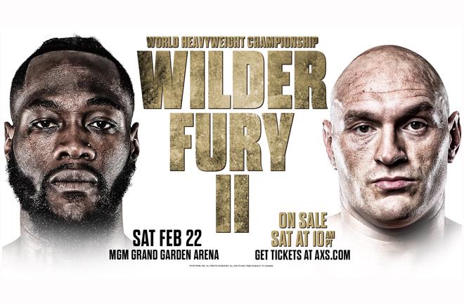 Wilder Against Fury II Set For Vegas