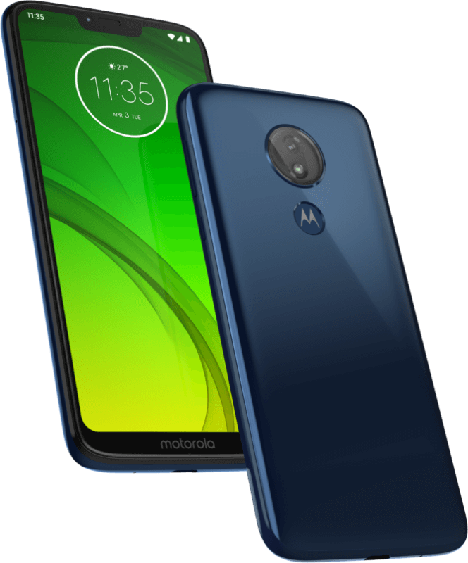 Moto G7 Power (front and back)