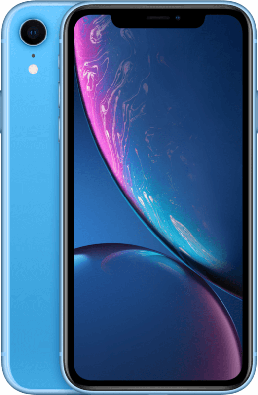 iPhone XR Blue front view