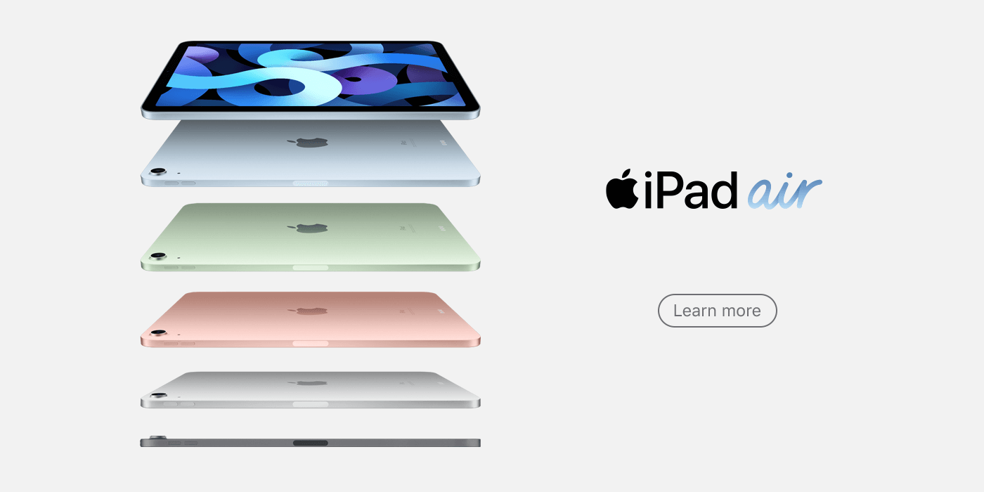iPad Air web banner