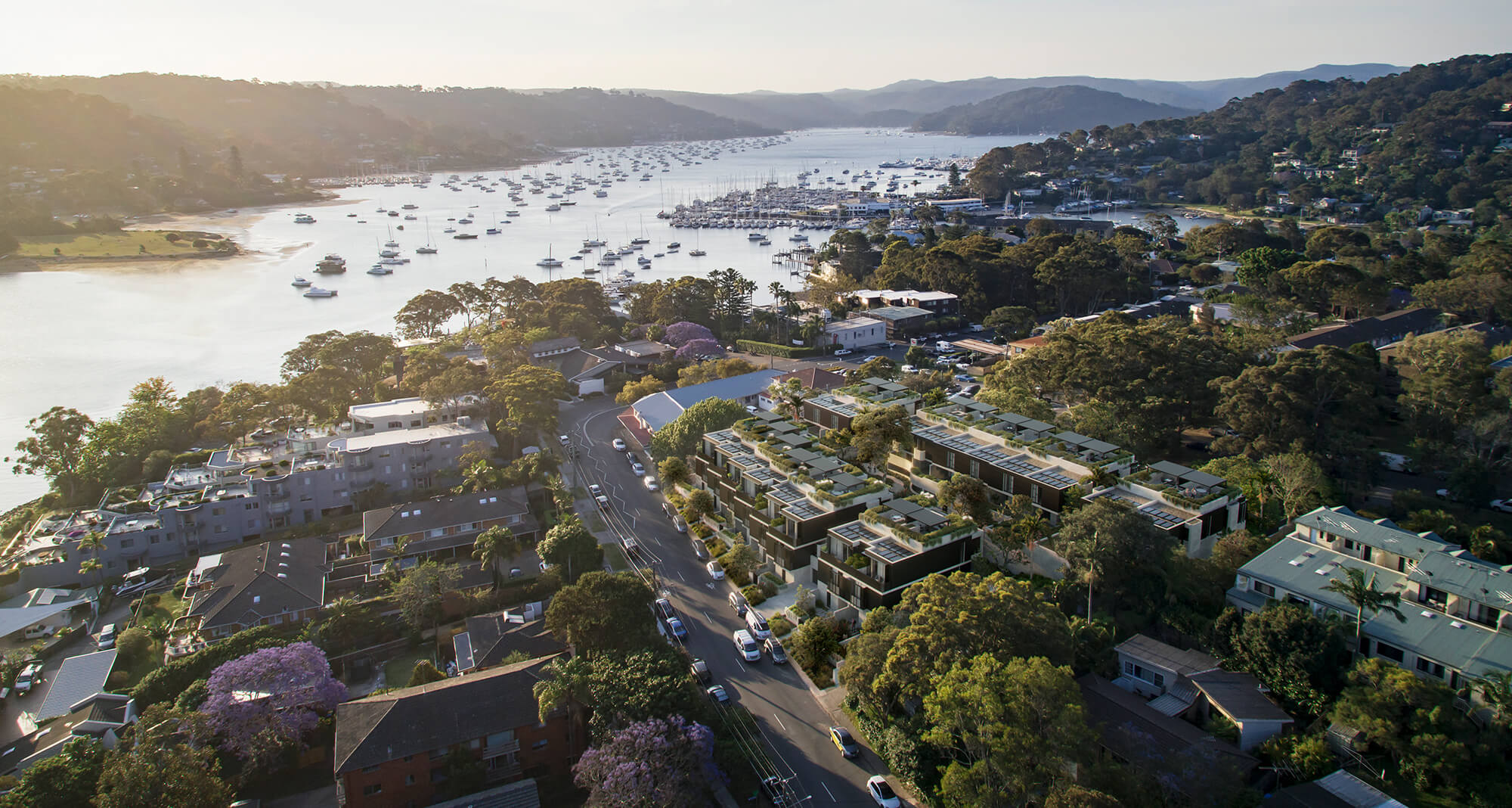 Luxury Newport townhouses that generate own power and food