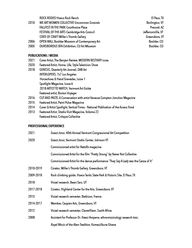 Vanessa Compton CV 2021 for mobile page 3
