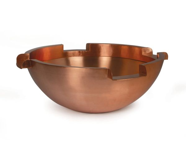 """26"""" Four Way Copper Pool Spillbowl"""