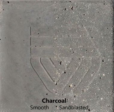 Charcoal color finish for concrete water bowls and planters
