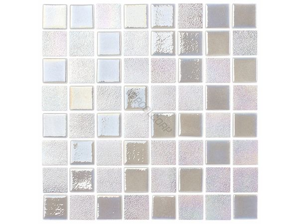 Opal White Glass Pool Tile