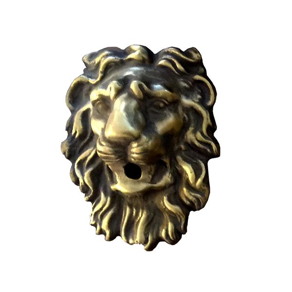 Regal Brass Lion Head Fountain