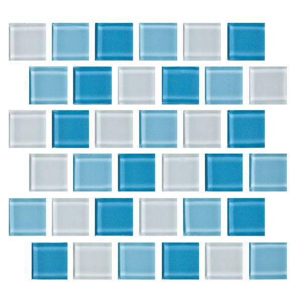 Caribbean Blue Glass Pool Tiles