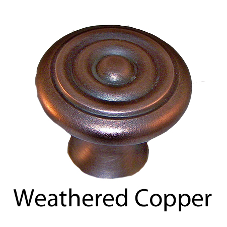 Weathered copper metal finish