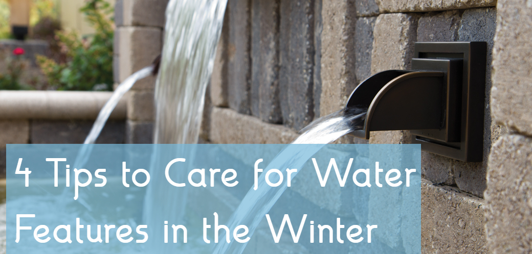tips to care for water features in winter