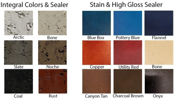 Color and Stain Options