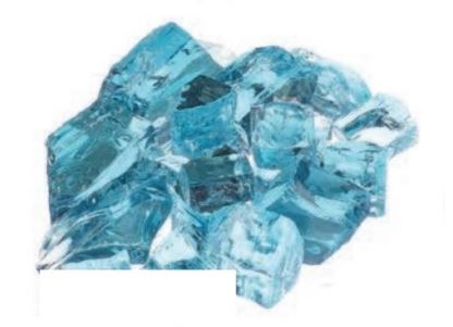 Pacific Blue Fire Glass