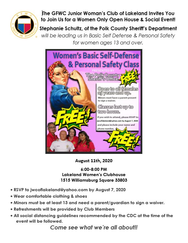 Click to view our August Self Defense event on Facebook
