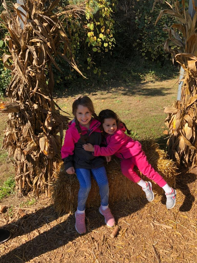 An Apple Orchard by Day Keeps the Family at Play