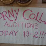 Corny Collins Auditions sign