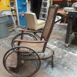 Old wheelchair side view