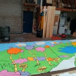 Seuss backdrop 19.5'w x 10'h