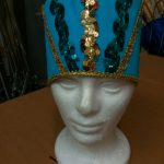teal w_gold accents Egyptian hat