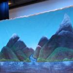 frozen backdrop