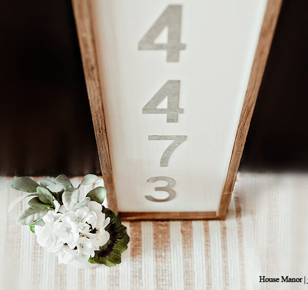 Create A DIY House Number Sign