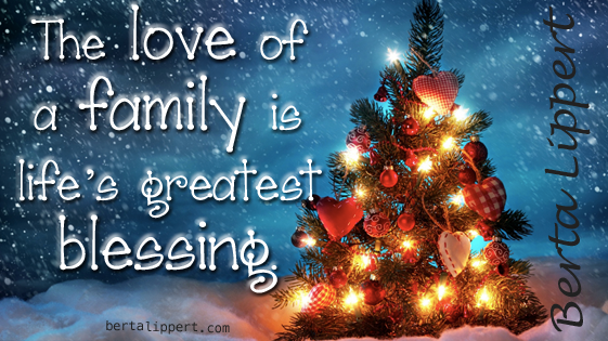 love of family life's greatest blessing