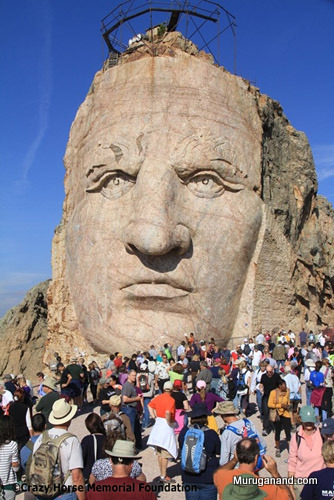 Picture is from Crazy Horse Memorial Foundation. Given here to compare scale.