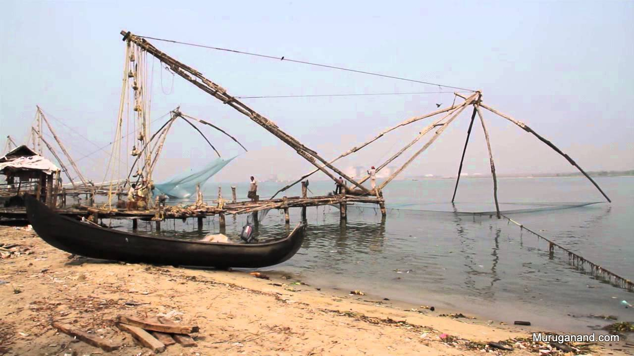 """Chinese fish net- icon of Cochi- these are """"shore operated lifts""""-from internet"""