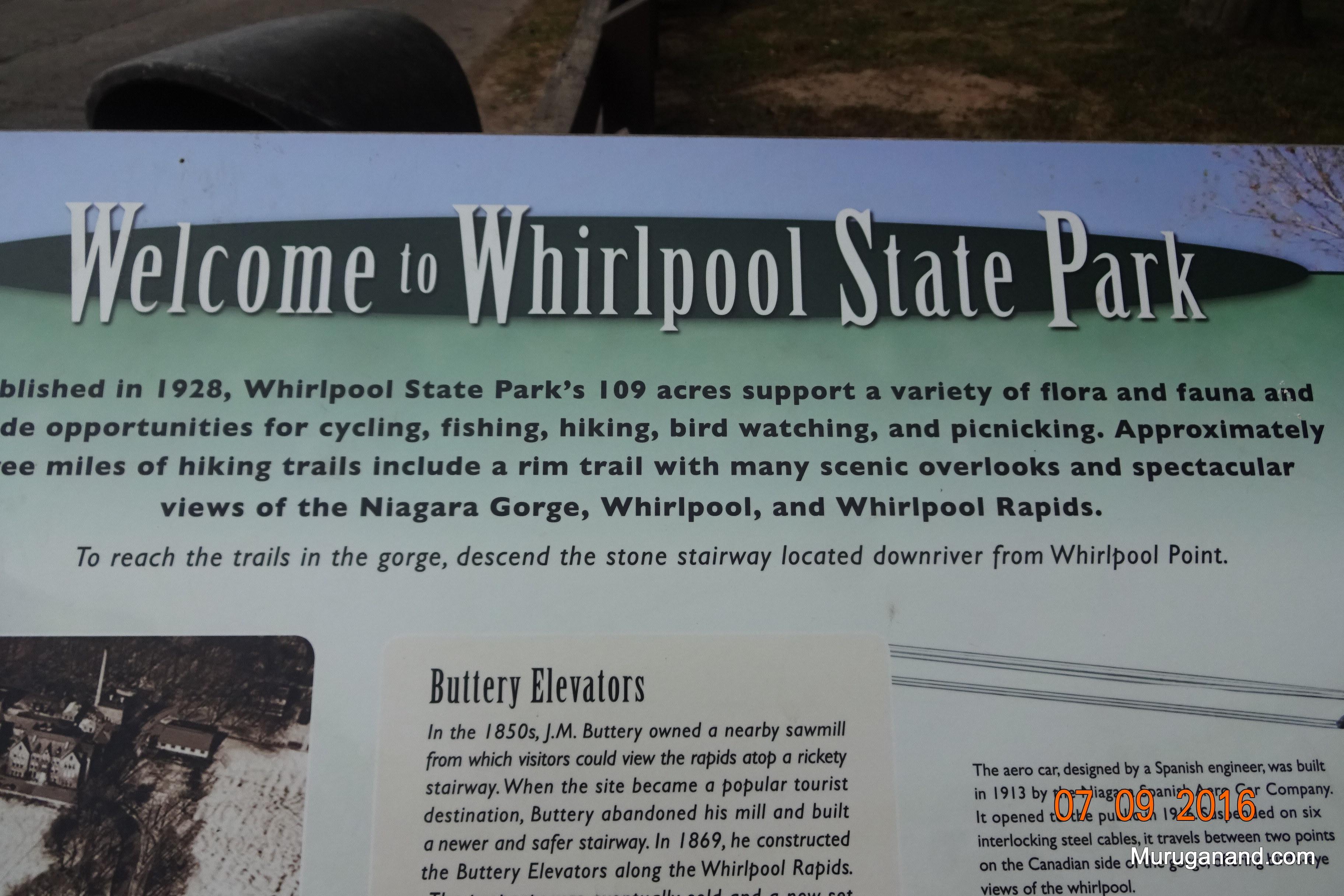 We visited Whirlpool Sate park.
