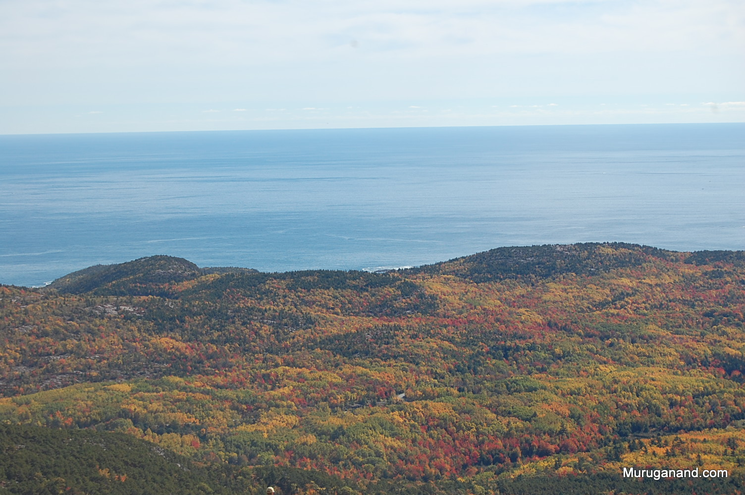 Acadia means, heaven on earth in French.