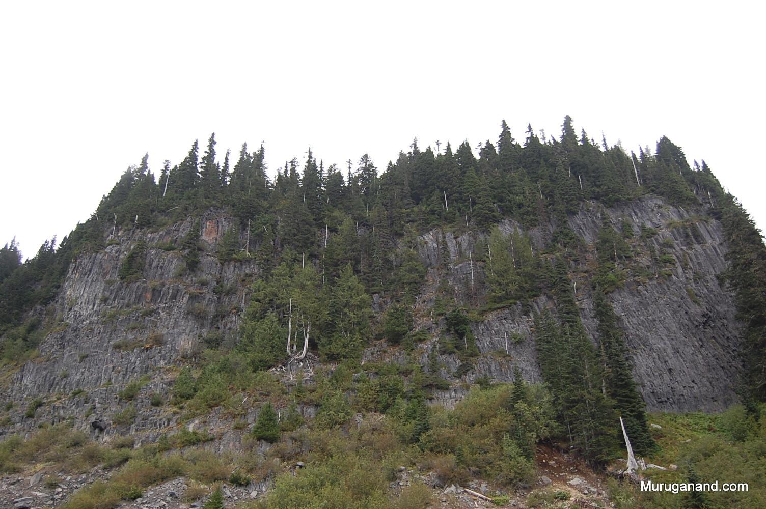 Rugged peaks nearby