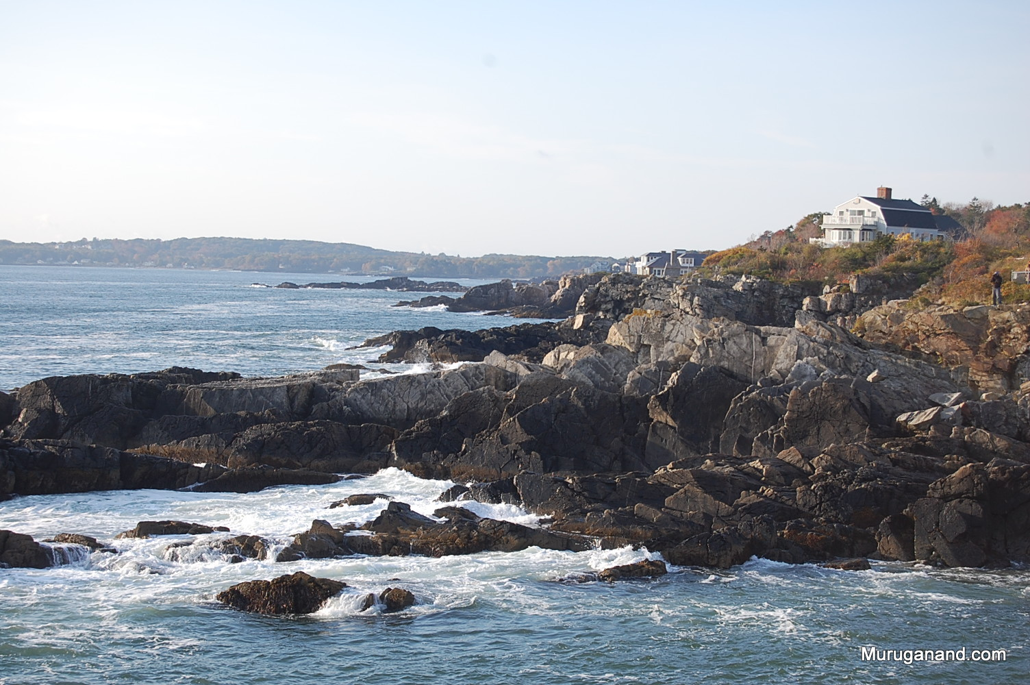 Granite rocks add charm to the shore.