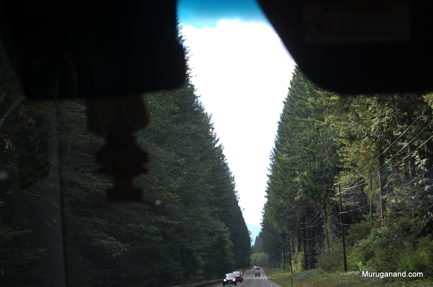 We are returning to Seattle through the scenic highway.