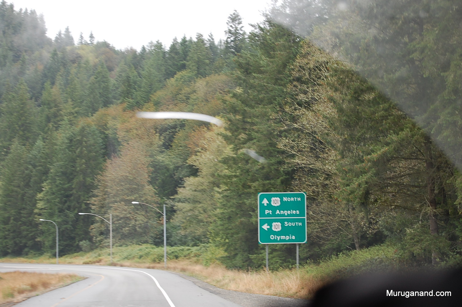 We are climbing up through HWY 101 for 17 miles from Port Angeles.