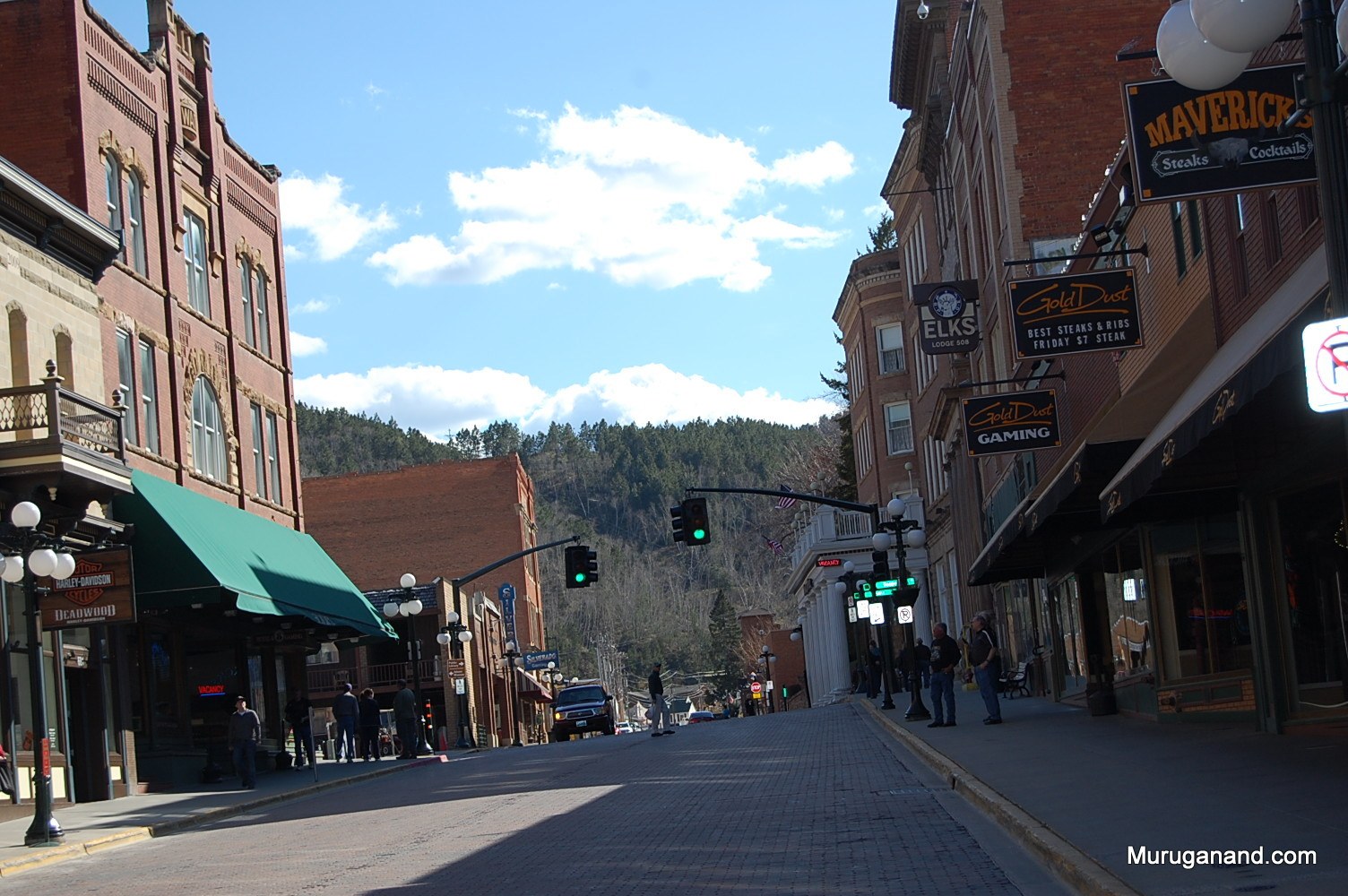 Deadwood today. Streets are maintained to feel the old west.
