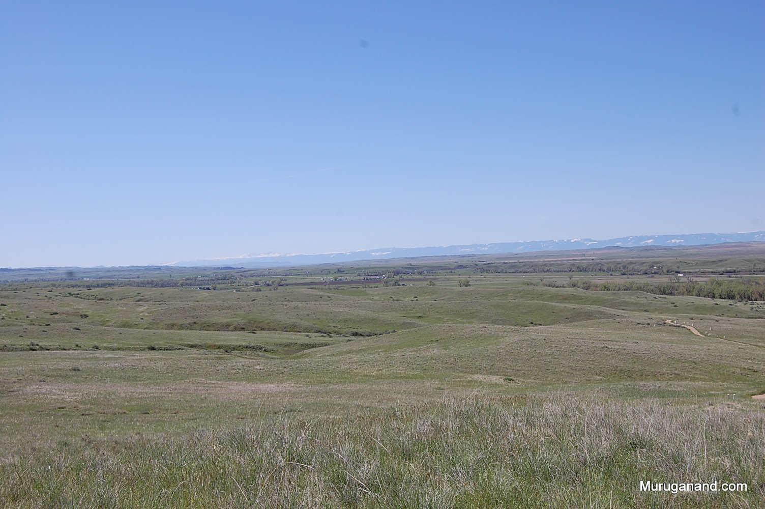 Battlefield . Black Hills is seen at the back.Battlefield area is 765 acres.