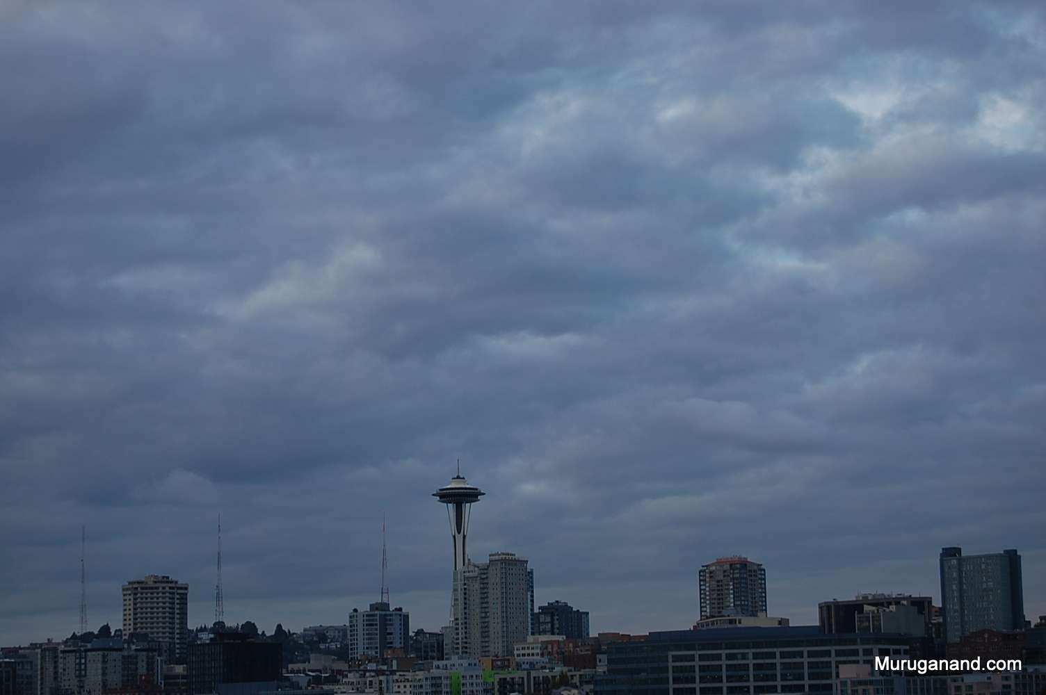 Our ferry is approaching Seattle.