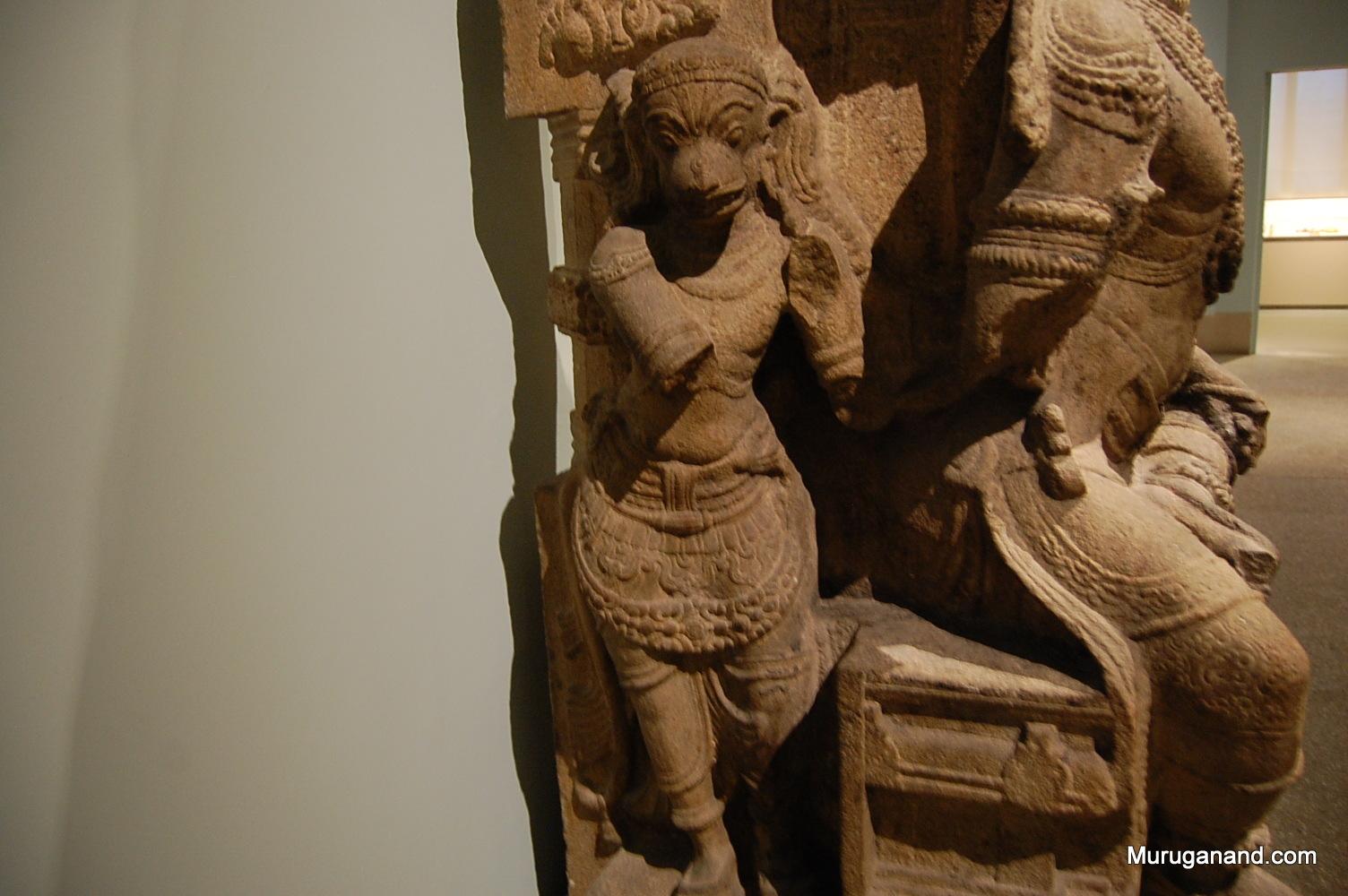 Hanuman ( on the right side of Rama)