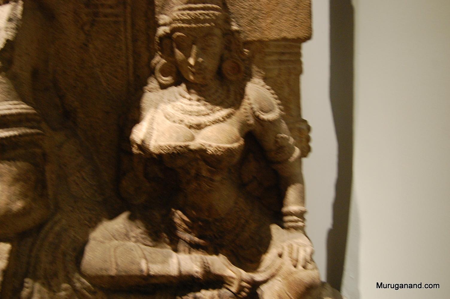 Sita (on the left side of Rama)