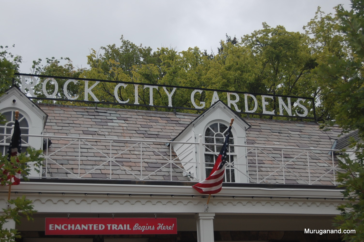 Rock city gardens is another natural attraction. It is 1700 ft above sea level.