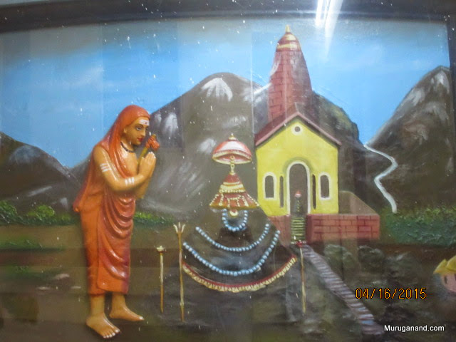 ...and Kedarnath; He attained Mukthi here in 820AD. He was just 32.