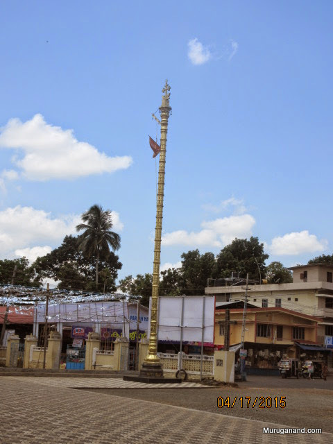 Church was built in Hindu temple style with a flag post!