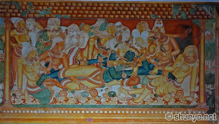 Famous Mural-Krishna Lila- Bed Chamber Paintings- from internet