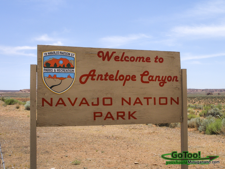 Navajo-Nation-Park-Welcome-Sign-Lower-Antelope-Canyon+1
